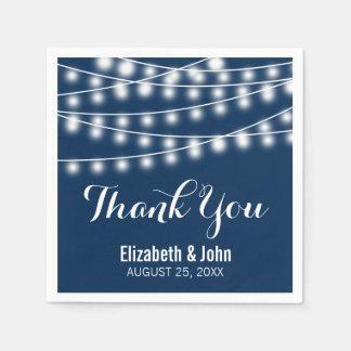 Summer Wedding String Lights Design Paper Napkin