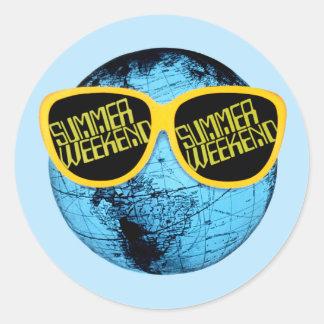Summer Weekend - promo graphic Classic Round Sticker