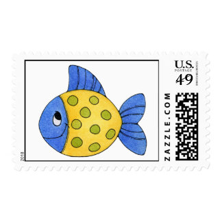 Summer Whmsical Fish Postage Stamps