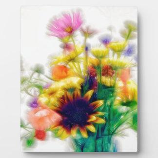 Summer Wildflower Bouquet Plaque