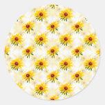 Summer Wildflower - Yellow Black-Eyed Susan Photo Classic Round Sticker