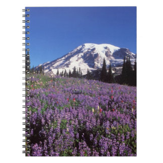 summer wildflowers at the base of Mount Rainier, Spiral Notebooks