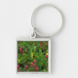 Summer Wildflowers Send Forth A Riot Of Color Keychain