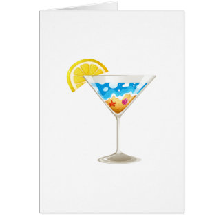 Summer Wine Glass Greeting Cards