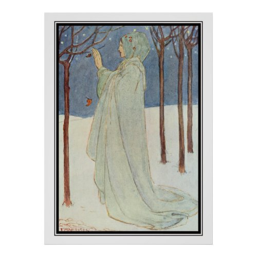 Summer Winter by Florence Harrison Poster