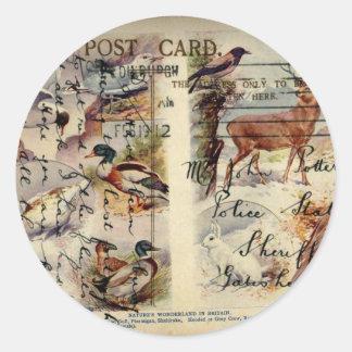Summer & Winter Wildlife Sticker Round Stickers