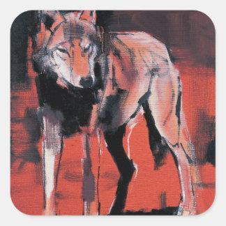 Summer Wolf 2001 Square Sticker