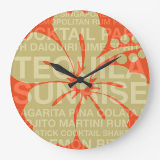 Summer Words Cocktails and Hibiscus Clocks