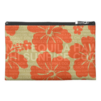 Summer Words Cocktails and Hibiscus Travel Accessory Bag