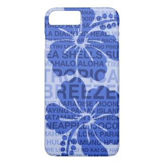 Summer Words Hawaiian Hibiscus iPhone 7 Plus Case