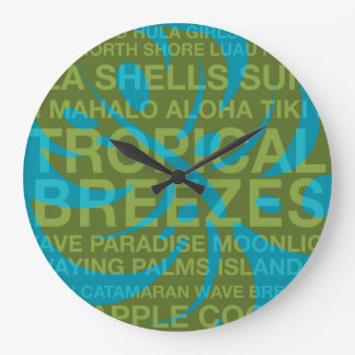 Summer Words Tropical and Monstera Leaf Clocks