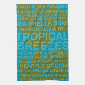 Summer Words Tropical and Monstera Leaf Towels