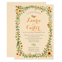 Summer Yellow Flowering Vine Floral Wedding New Card