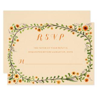 Summer Yellow Flowering Vine Floral Wedding RSVP Invitation