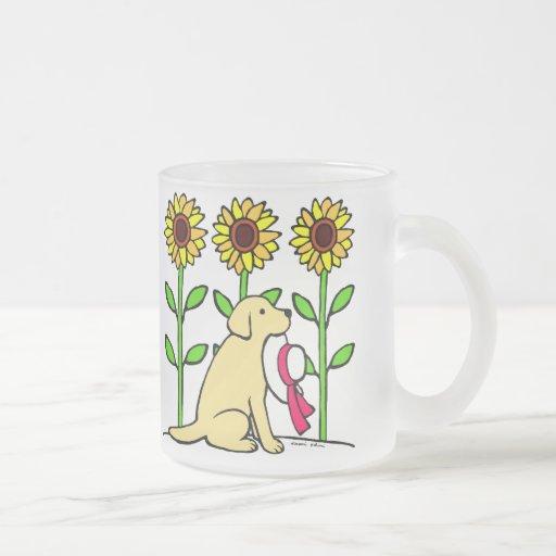 Summer Yellow Labrador with Sunflowers Coffee Mugs