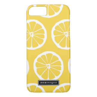 Summer Yellow Lemon Slices Pattern iPhone Case