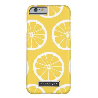 Summer Yellow Lemon Slices Pattern iPhone Case