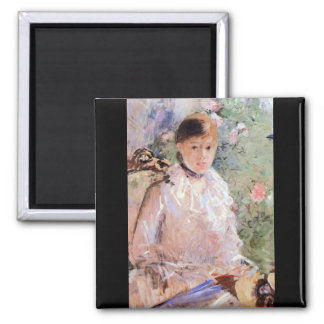 Summer (Young woman at the window) by Morisot Magnets