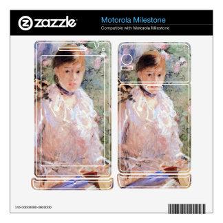 Summer (Young woman at the window) by Morisot Motorola Milestone Skins