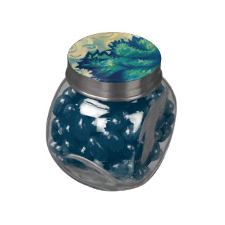 Summer Zephyr Glass Candy Jars