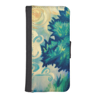 Summer Zephyr Wallet Phone Case For iPhone SE/5/5s