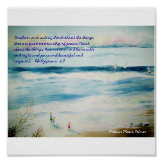 summerbeachwatercolor, Brothers and sisters, th... Poster