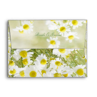 Summerfield Daisies Daisy Flower Wedding Envelope