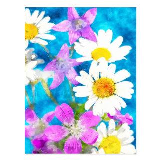 Summerflowers Postcard in watercolor