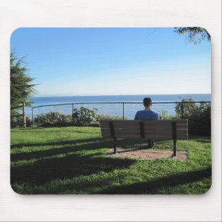 Summerland: Man Contemplates Ocean Mouse Pad