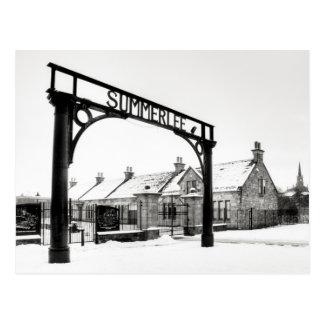 Summerlee in the Snow Postcard