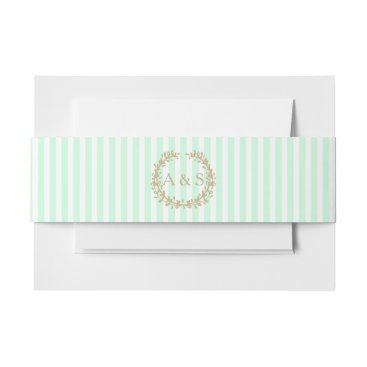 Professional Business Summermint Invitation Belly Band