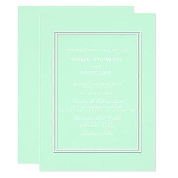 Beach Themed Summermint Pastel Green Mint Wedding Card