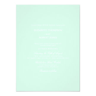 Summermint Pastel Green Mint Wedding Card