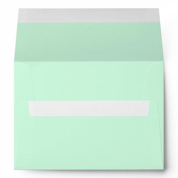 Summermint Pastel Green Mint Wedding Envelope
