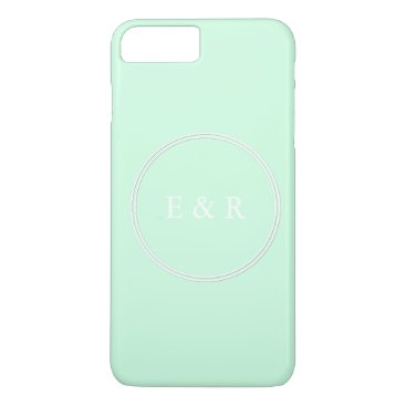 Beach Themed Summermint Pastel Green Mint Wedding iPhone 7 Plus Case