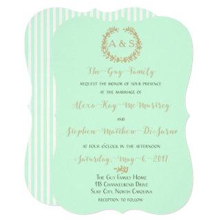 SummerMint Wedding Card