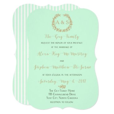 Beach Themed SummerMint Wedding Card