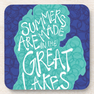 Summers Are Made In The Great Lakes - Apron Drink Coaster