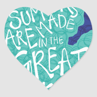 Summers Are Made In The Great Lakes - Apron Heart Sticker