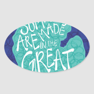 Summers Are Made In The Great Lakes - Apron Oval Sticker