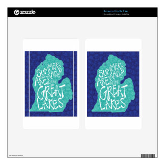 Summers Are Made In The Great Lakes - Blue Decals For Kindle Fire