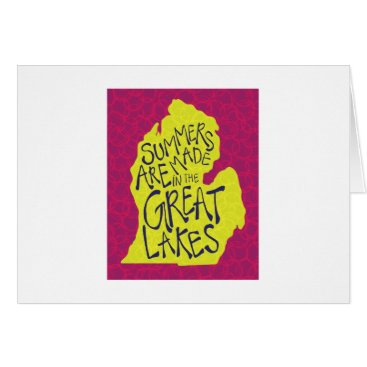 Beach Themed Summers Are Made In The Great Lakes - Kids! Card