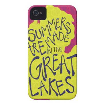 Beach Themed Summers Are Made In The Great Lakes - Kids! Case-Mate iPhone 4 Case