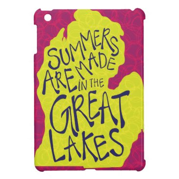 Beach Themed Summers Are Made In The Great Lakes - Kids! iPad Mini Cover