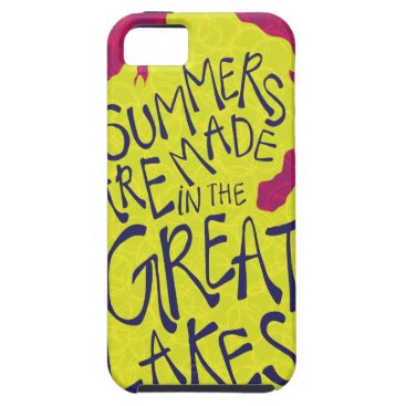 Beach Themed Summers Are Made In The Great Lakes - Kids! iPhone SE/5/5s Case