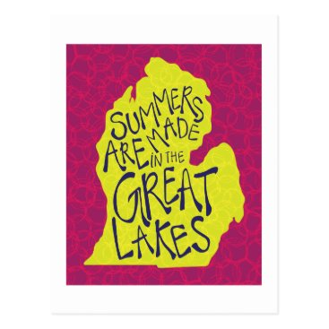 Beach Themed Summers Are Made In The Great Lakes - Kids! Postcard