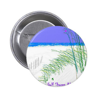 Summers at Gulf Shores 2 Inch Round Button