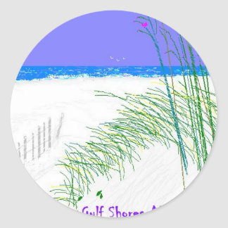 Summers at Gulf Shores Classic Round Sticker
