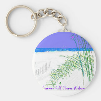 Summers at Gulf Shores Keychains