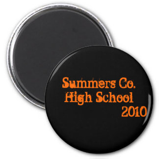 Summers Co. High School                     2010 2 Inch Round Magnet